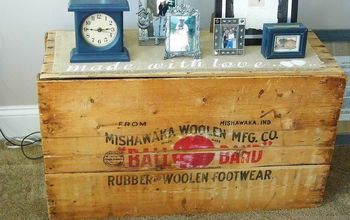 reusing something old, home decor, painted furniture, repurposing upcycling, Old crate made useful