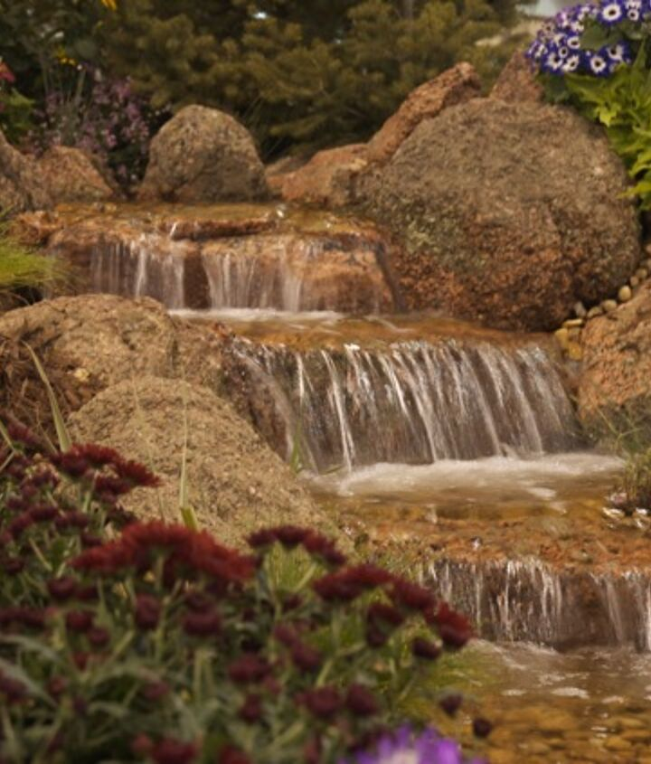 Come sit and relax next to this pondless waterfalls and let the cares of the day melt away!