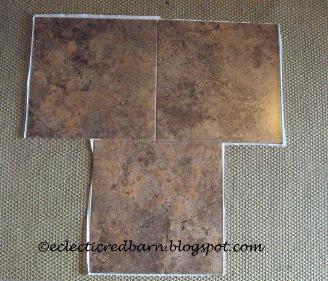 Off setting vinyl tiles