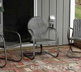 how to paint old and rusty metal outdoor chairs hometalk rh hometalk com Best Paint for Patio Furniture Outdoor Furniture with Chalk Paint