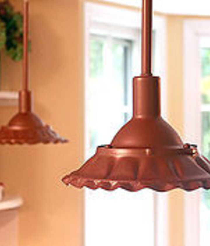 DIY Scalloped Copper Farmhouse pendant lights