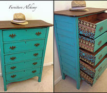 indian inspired antique dresser makeover, chalk paint, painted furniture, rustic furniture