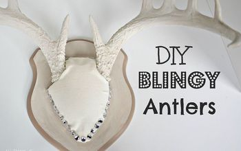 diy blingy antlers, bedroom ideas, crafts, home decor, repurposing upcycling