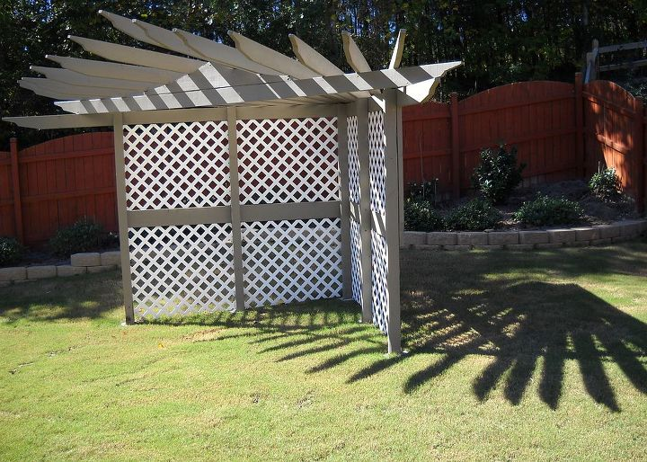 q what would you do with this pergola arbor, outdoor living