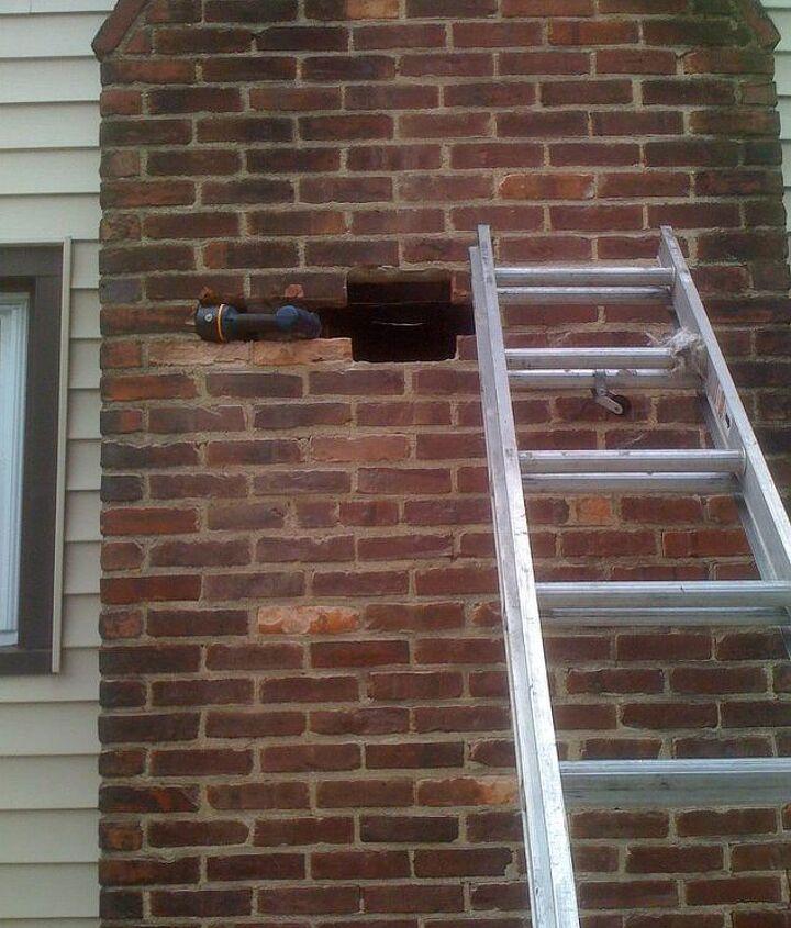 Large chimney breach...