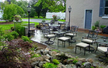 stone amp brick patio repair led lighting waterfalls fountain and landscaping in, fire pit, patio, ponds water features, Brighton NY Landscaping and Landscape Design in Brighton NY by Acorn Landscaping of Rochester NY 585 442 6373