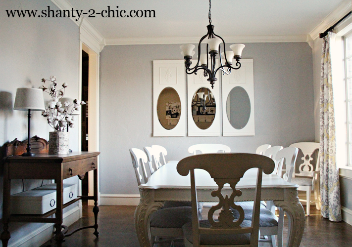 Diy wall mirrors for my dining room crafts dining room ideas home decor
