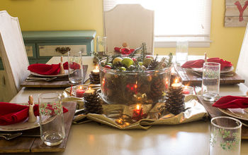 thrifty tips for creating a rustic christmas centerpiece, christmas decorations, seasonal holiday decor