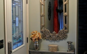# BUDGET UPGRADE   Re-purposed Antique Mirror Frame