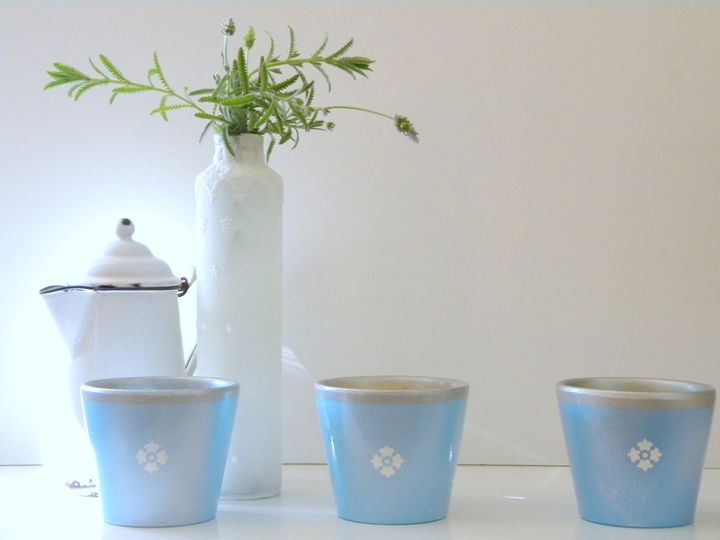 create faux french herb pots from dollar store pots, crafts