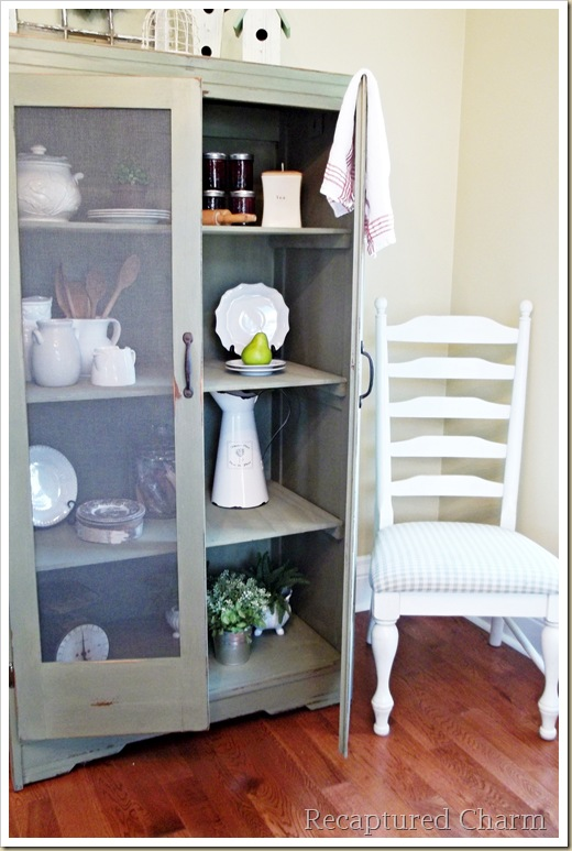 Old Armoire To Kitchen Pantry Home Decor Painted Furniture Rustic