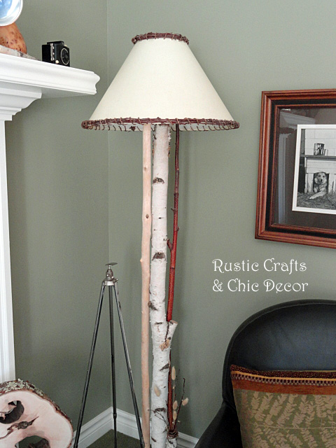 Diy Rustic Birch Sconces And Lamps Lighting Repurposing Upcycling