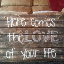 pallet wood signs, crafts, home decor, painting, pallet, woodworking projects, this is for a sweet gals wedding