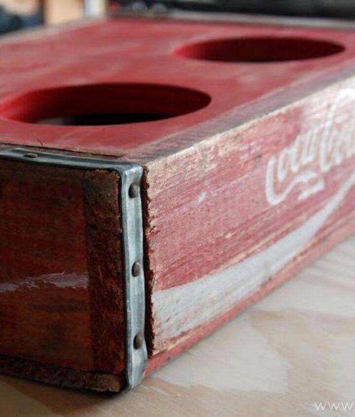 Vintage Coca-Cola Crate Turned Dog Bowl Holder