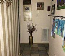 dark hallway, foyer, home decor, What it looks like now