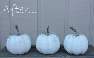 how to keep a white pumpkin white, chalk paint, painting, seasonal holiday decor