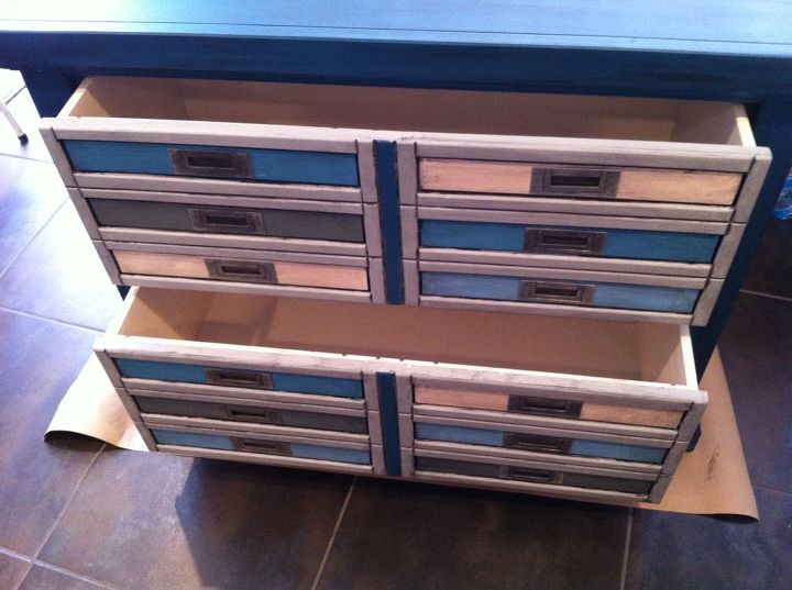 file cabinet re purpose into a mock printer s cabinet for storage, painted furniture, repurposing upcycling, storage ideas