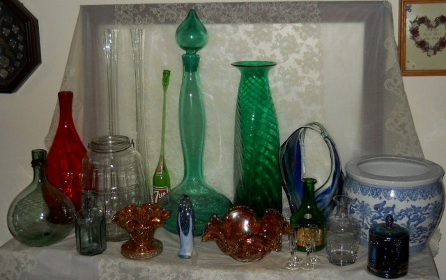 helping to estimate value of some of my glass ware, home decor