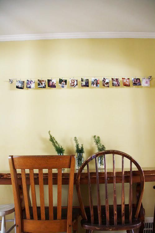 ikea hack curtain wire to photo display, home decor, repurposing upcycling,  This Ikea
