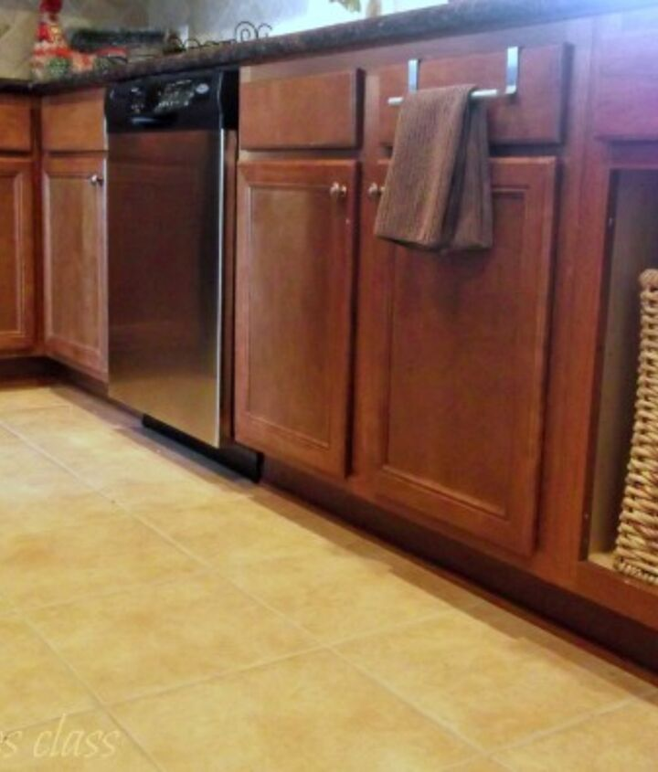 replacing a cabinet door with a basket is a simple way to make a big impact.