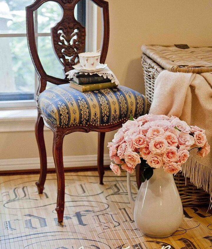 French chair on the Miss Mustard Seed's rug
