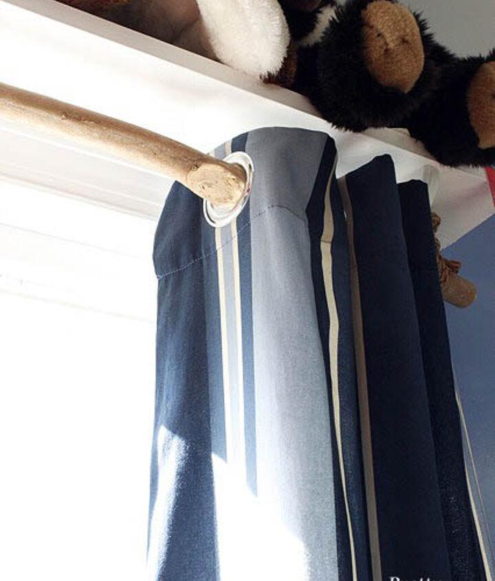 Branch curtain rod.