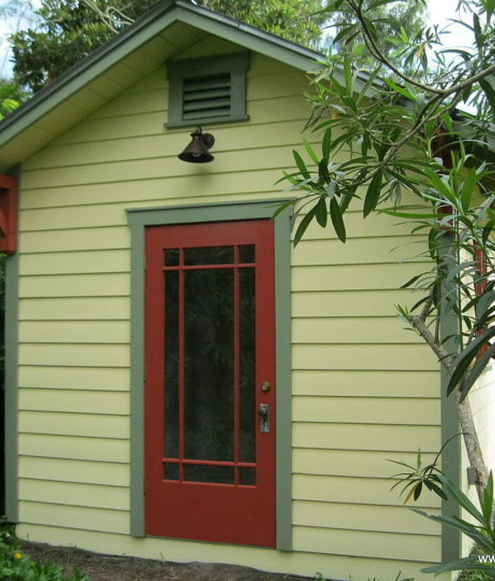 All wood bungalow shed