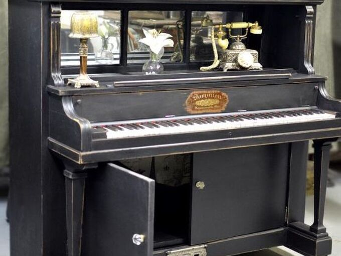 repurposed piano with many options for functionality, diy, how to, painted furniture, repurposing upcycling, Use simply as a nice book shelf area Maybein the kitchen as a pantry coffee station microwave area Visit us at for more repurposing fun