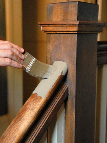 In many older homes with painted stairs and railings, you'll find quality hardwoods under the paint.