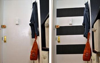 """DIY """"no Paint"""" Striped Entryway Door"""