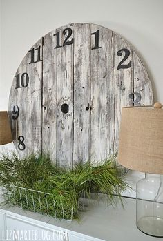 diy wood pallet clock, diy, home decor, how to, pallet, repurposing upcycling, woodworking projects