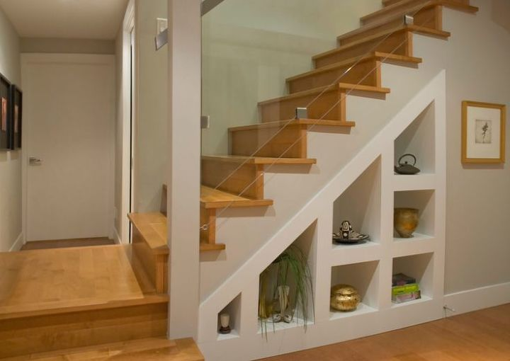 Storage is always perfect under the stairs