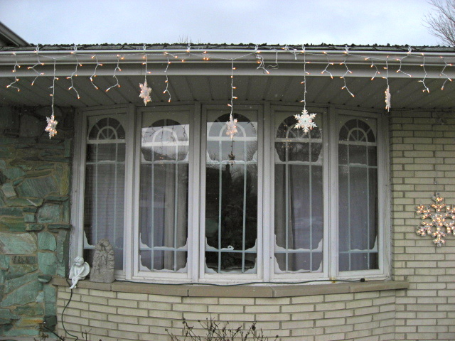Here is the picture in the daytime - I think I need to add more panes and snow.
