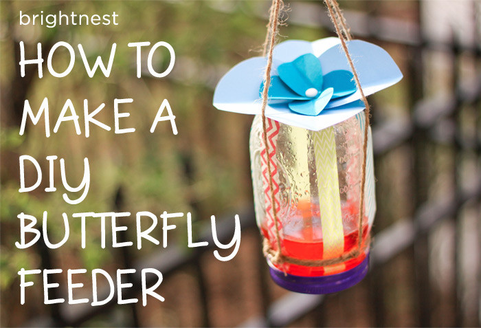 the most popular brightnest posts of 2013, crafts, home decor, mason jars, Who doesn t love butterflies To lure these beautiful creatures into your yard make a DIY butterfly feeder out of an old mason jar