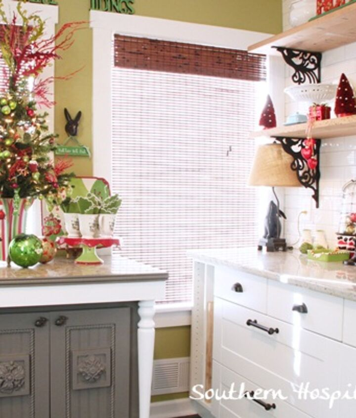 christmas inspiration in the kitchen, christmas decorations, seasonal holiday decor