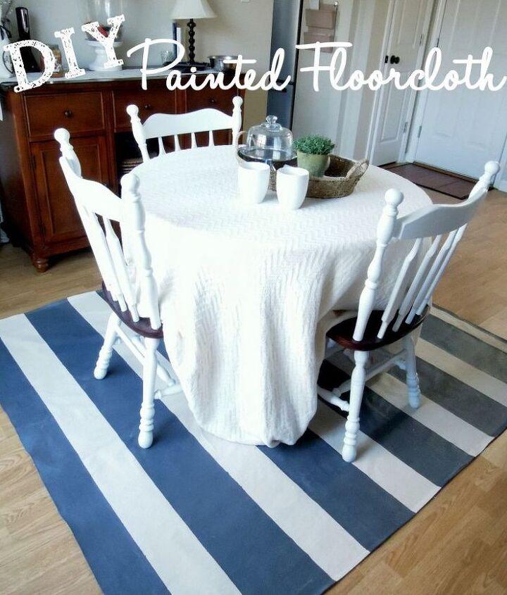 diy painted floor cloth, flooring, painting