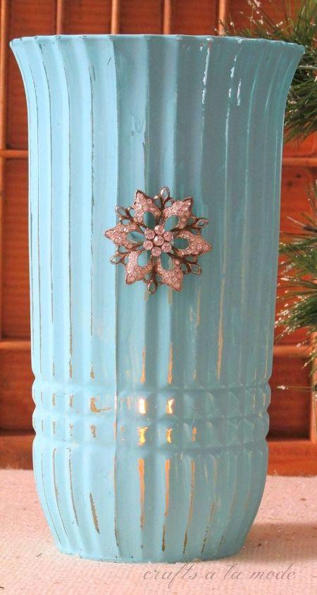 painted vintage vase with annie sloan paint, chalk paint, mason jars, painting, repurposing upcycling, Annie Sloan chalk paint vase
