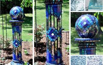 design wizards garden spheres orbs and gazing balls, crafts, gardening, repurposing upcycling