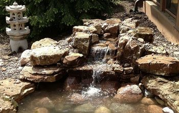 pond and waterfall installation long grove il installed by gem ponds, outdoor living, ponds water features, Project complete Fish and additional plants to be added next week