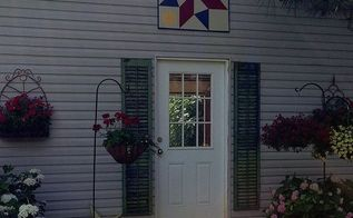 painting a barn quilt for your garden shed, crafts, painting, Texas Star