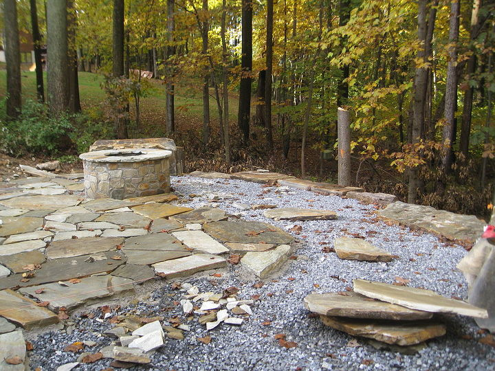 Laying the flagstone