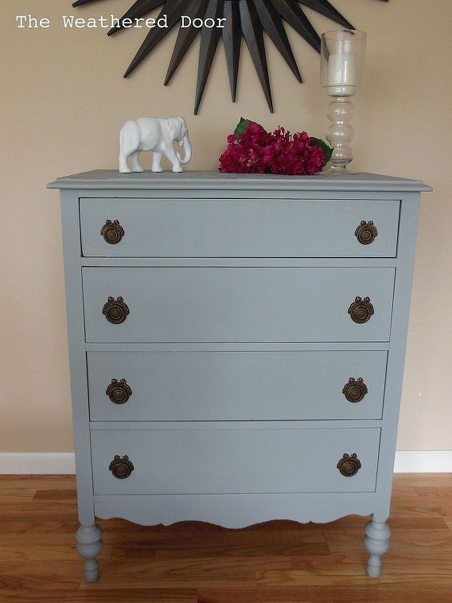 Use Paintable Wallpaper To Cover Ruined Furniture Tops Painted