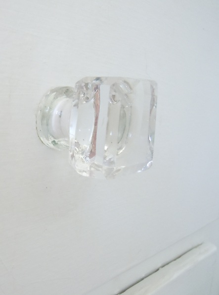 Glass knobs from Hobby Lobby on sale for $1 each