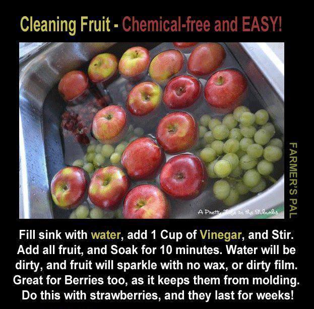 cleaning fruit, gardening, go green