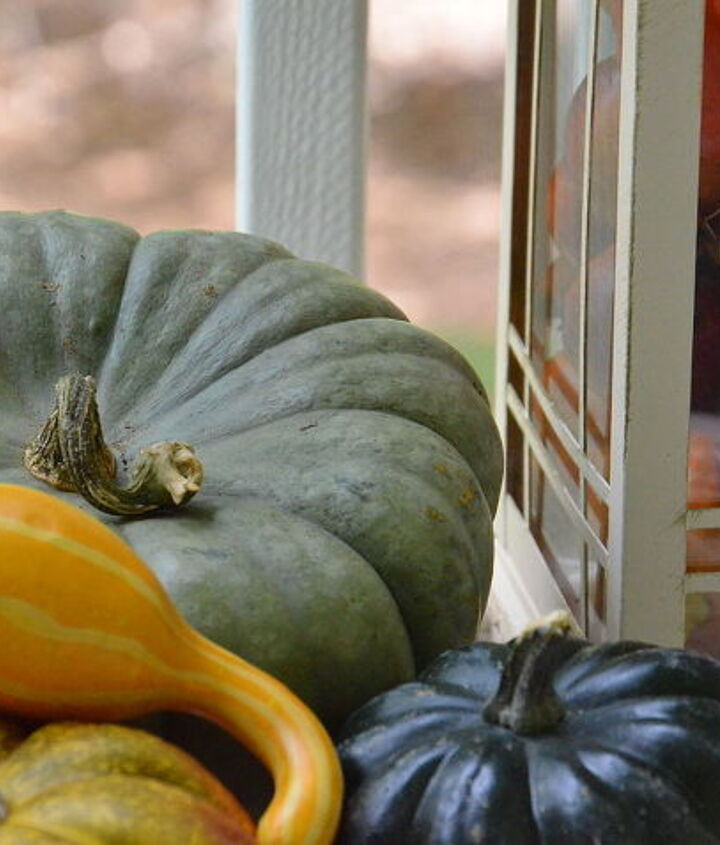 upper back porch dressed for fall, outdoor living, porches, seasonal holiday decor