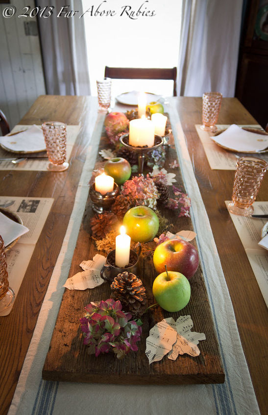 autumn apples, seasonal holiday decor
