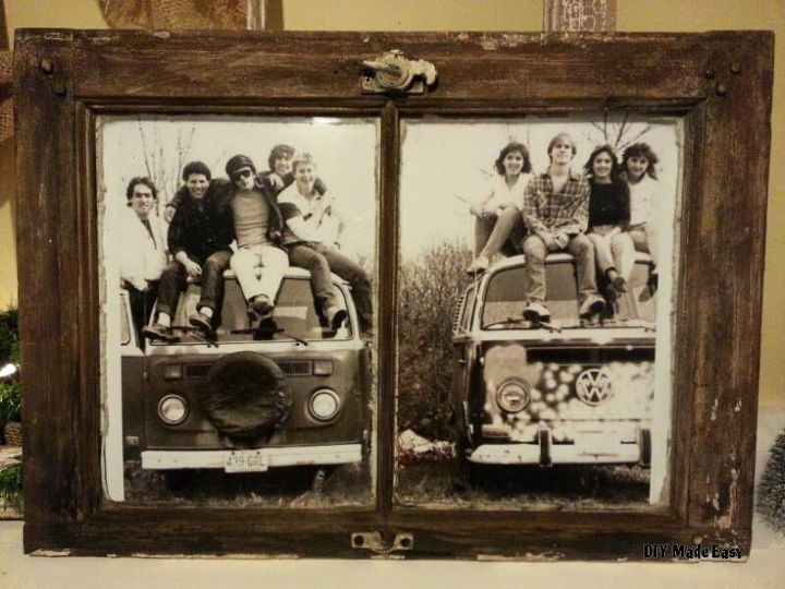 a vintage farmhouse window as a picture frame, diy, repurposing upcycling