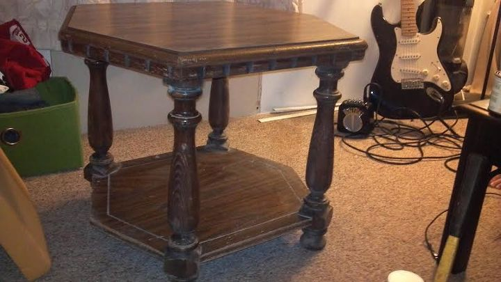 it was just a crappy old table, painted furniture, repurposing upcycling