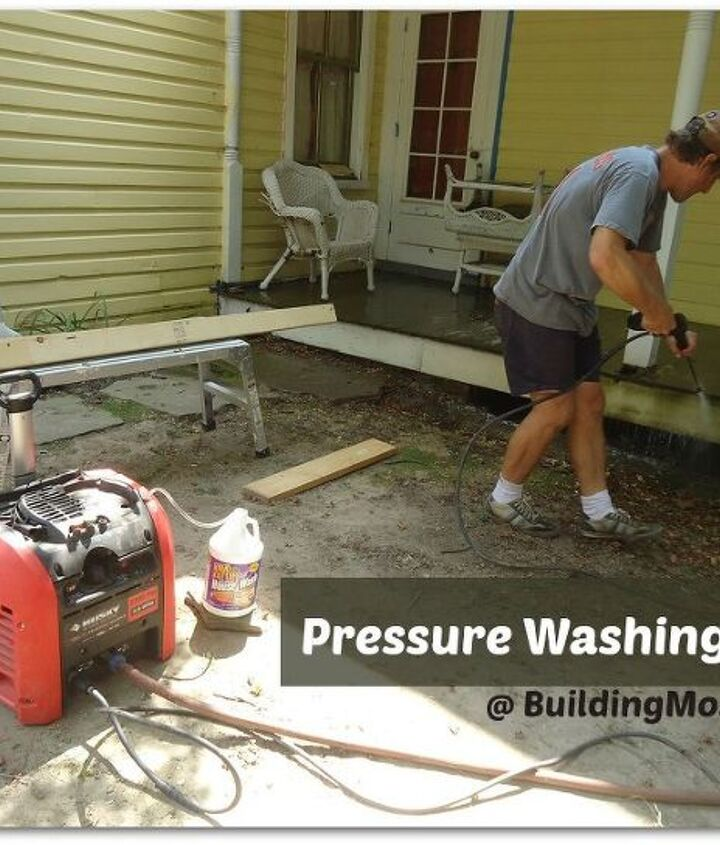 a sturdy but inexpensive pressure washer will do.