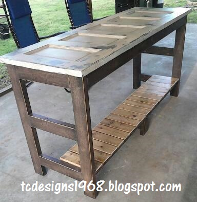 Old Workbench Kitchen Island